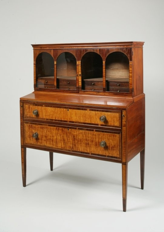 Federal Veneered And Inlaid Mahogany And Maple Desk Furniture Pinterest Federal Drawers