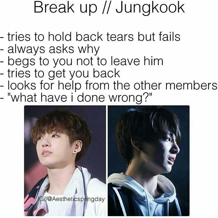 Bts Jeon Jungkook Imagine Break Up  Bts Imagines  Bts -3549