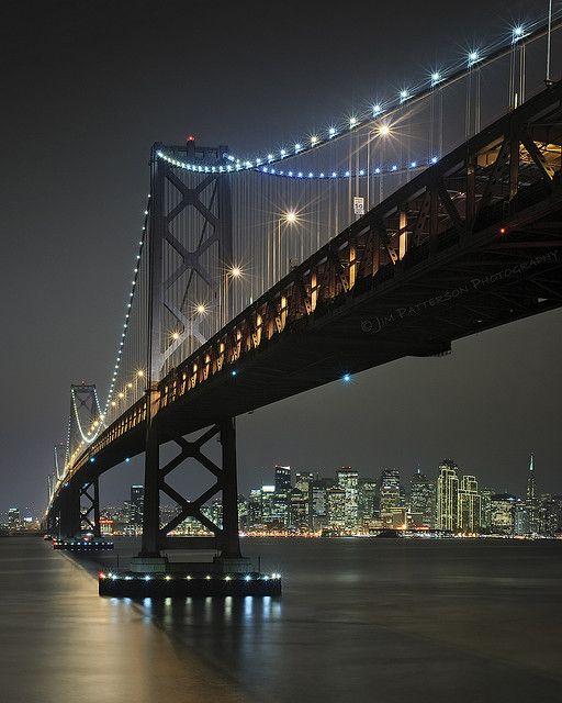 City at Night - San Francisco Bay Bridge, California....feeling home sick