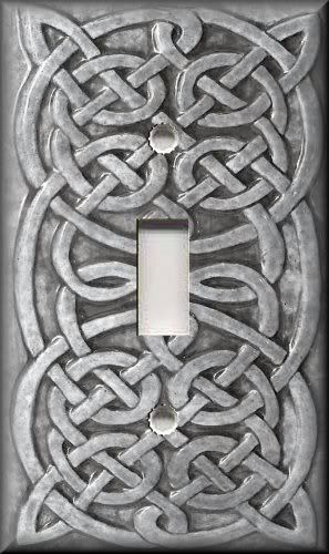 6.99 Light Switch Plate Cover Home Decor Celtic Knot Light Grey | eBay