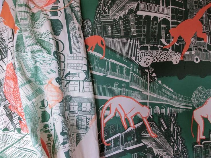 Harriet Popham, surface textile designer. Architecture and Portraiture in print…