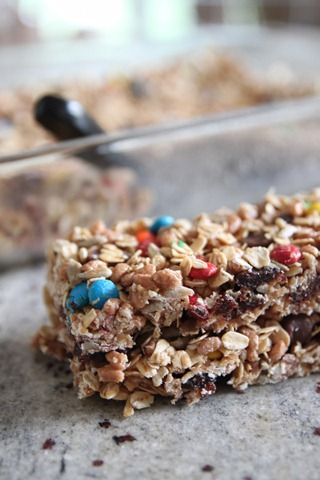No Bake Trail Mix Granola Bars