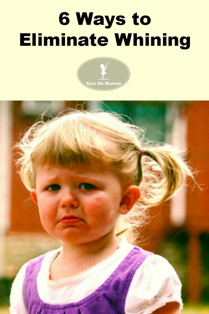Parenting strategies to stop whining
