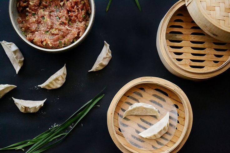 Steamed pork and chive dumplings | buttersa.com