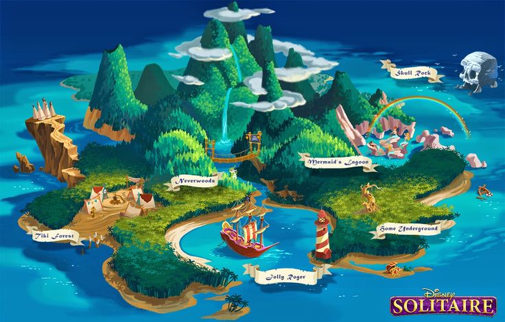 "Neverland_Map_Plan.jpg do a sign with arrowed signs saying ""mermaid lagoon"" and ""JBK"""
