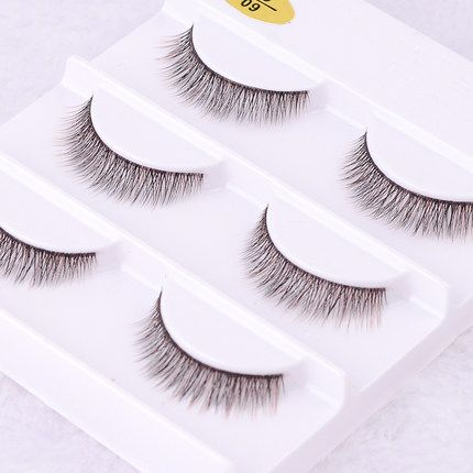2015 New 3 pair 3D mink eyelash 100% real mink fur Handmade Crossing lashes individual strip thick lash #Affiliate