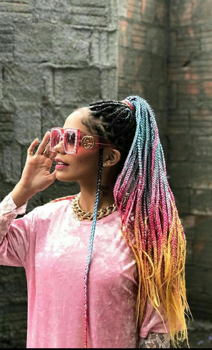 Everything you need to know about box braids! Click and get all the box braid inspiration you need!