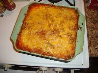 Mexican Lasagna. One of my go to recipes. My brother requests it every single time he comes to visit. It's a bariatric friendly version that everyone loves!