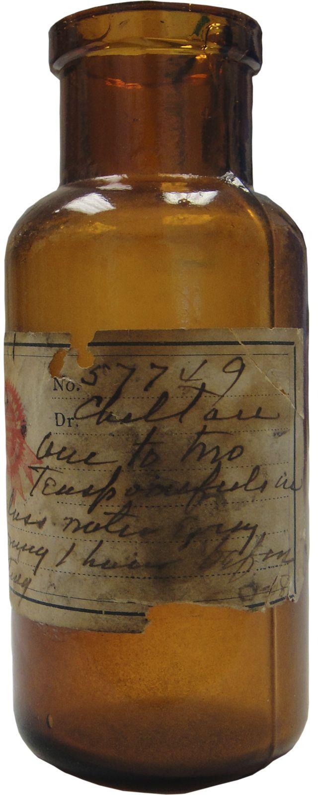 Absolute ethyl alcohol bottle vintage chemical bottle science lab - A Time To Remember Old Medicine Bottle