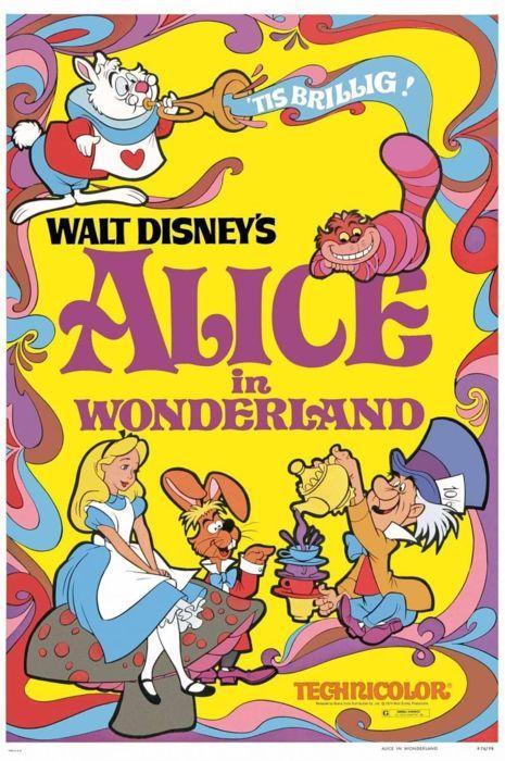 Original Alice in Wonderland film poster (1951)