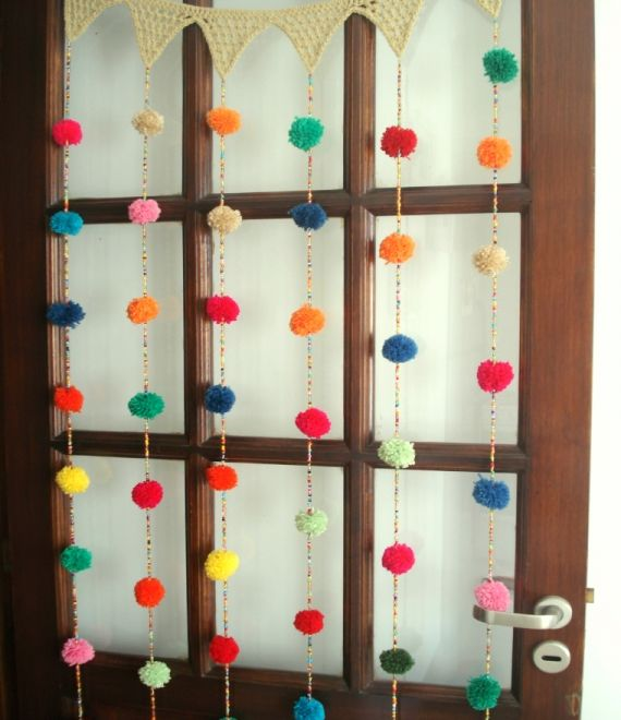 Cortina crochet Mil pompones - Crochet - Tejidos de Punto - 494884