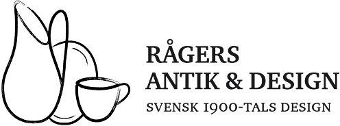 Rågers Antik & Design, Malmö. Butiken har öppet mån-fre 12:00-18:00 samt lördag 10:00-14:00, söndagstängt.