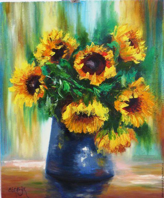 """Картины цветов ручной работы. Ярмарка Мастеров - ручная работа. Купить """"Дети солнца"""" картина маслом на холсте, картины цветов, цветков, букет. Handmade."""