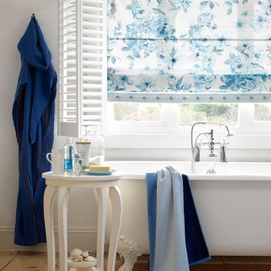 Classic blue bathroom | Bathroom planning ideas | housetohome.co.uk