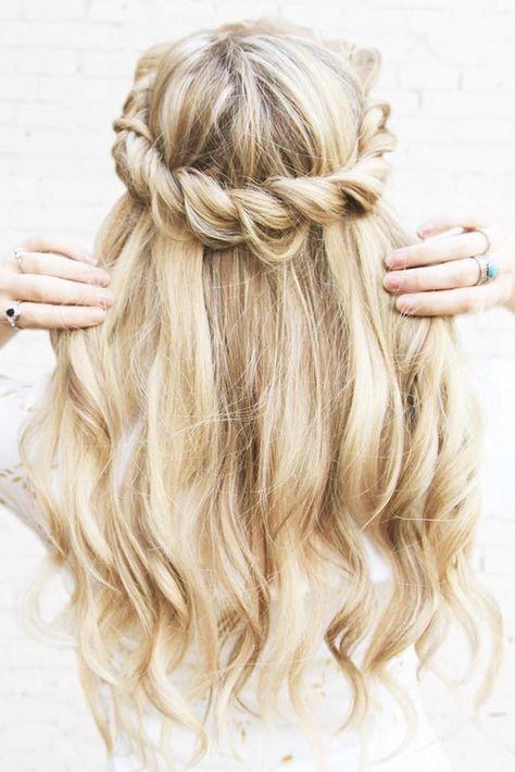 Mermaid Hairstyles mermaid half braid tutorial cute hairstyles 21 Cutest And Most Beautiful Homecoming Hairstyles