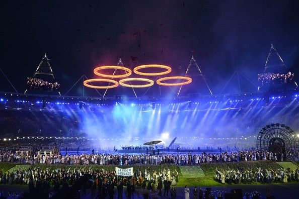 The London Olympic Games 2012 Opening Ceremony held at the Olympic Stadium in London