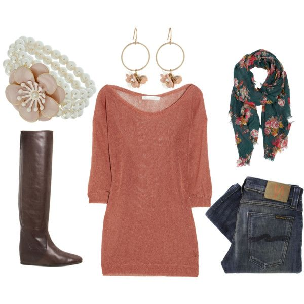 cute top: Clothespiration Fall, Shirt Scarf Colors, Color My Fav, Cute Outfits, Hair Beauty Style Inspirations, Closet, Comfy Fall, Fall Winter, Clothing Tells