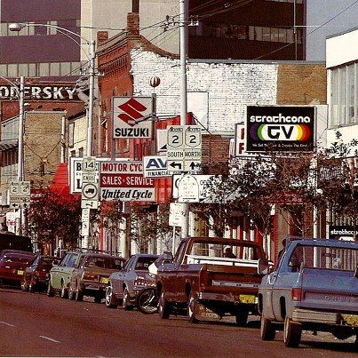 """""""Whyte Ave in the late 1970's or early 1980's before it was the cool hip place in Edmonton to go,"""" from Vintage Edmonton."""