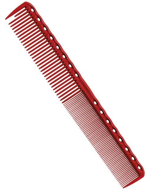 YS Park Combs Fine Cutting Grip Comb Kam Ref.YS-336 Red 1Stuks  YS Park Fine Cutting Grip Comb Ref.YS-336 Red. Deze kam glijdt nauwelijks uit de hand vanwege de ronde rand. De korte eerste tand is perfect voor het scheiden van het haar en de ronde punt aan de onderkant is ontworpen om gemakkelijk het haar glad te kammen. De ruwe tanden zijn ideaal voor het basis kammen en de fijne tanden helpen om het haar in model te krijgen tijdens het kammen. De kam is hittebestendig en kan tot 220 graden…