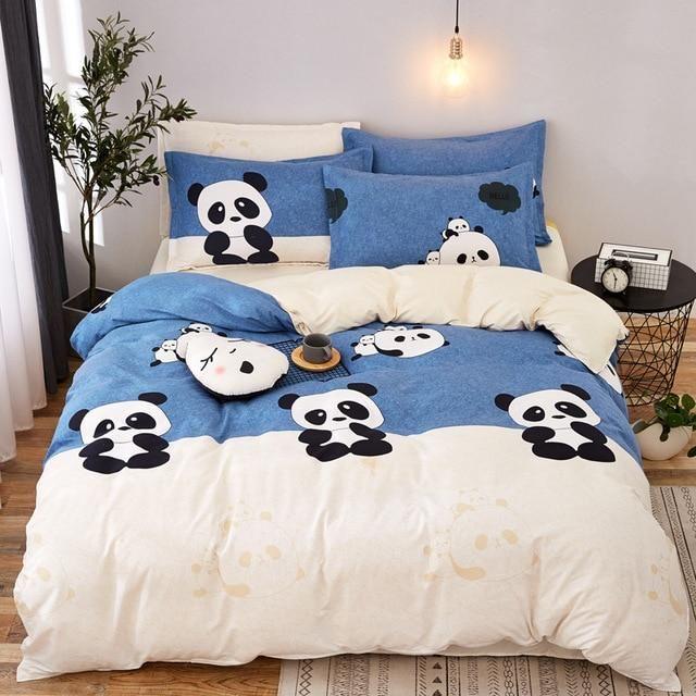 Panda Bedding Set Bedding Sets Print Bedding Bedding Set