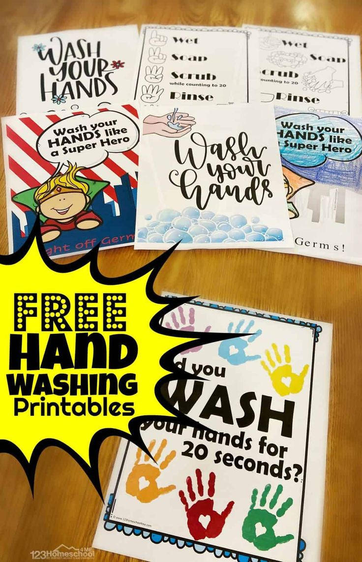 20+ FREE Hand Washing Signs for Kids in 2020 Free