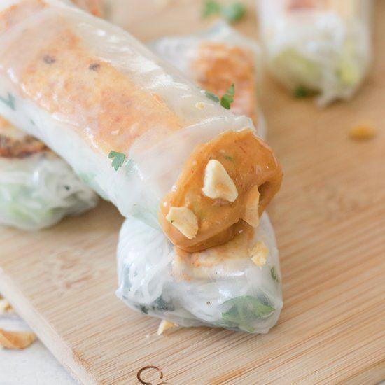 Healthy Vegan Vietnamese Spring Rolls