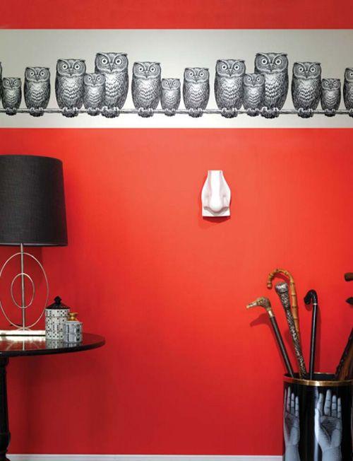 Piero Fornasetti: Owl Wallpaper