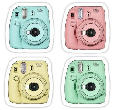 tumblr sticker polaroid kamera
