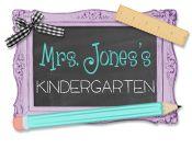 Mrs. Jones's Kindergarten ... lots of great ideas and freebies!
