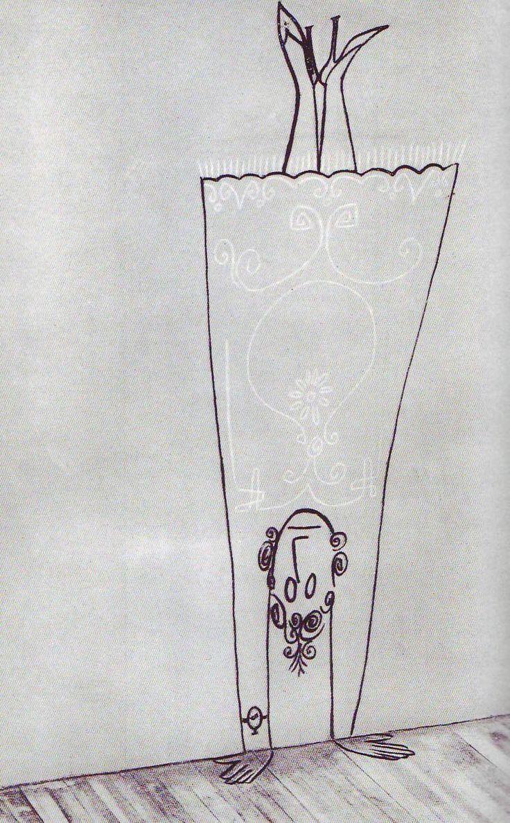 :D handstand Saul Steinberg #Illustration #Saul_Steinberg