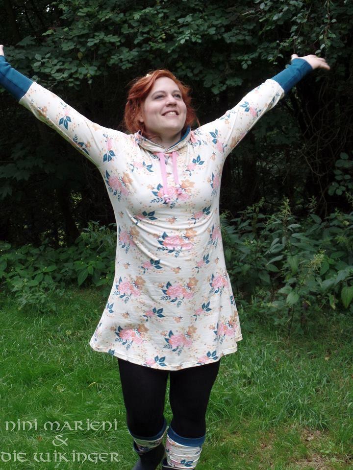 """Kleid """"Mathilda"""" genäht von Nini Marieni & die Wikinger: http://www.kreativlaborberlin.de/schnittmuster/kleid-shirt-mathilda/"""