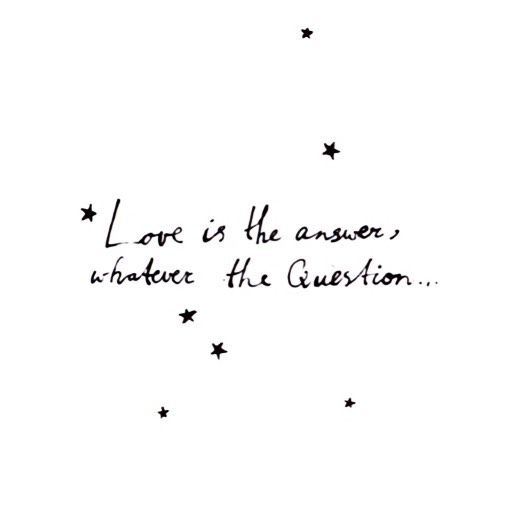 Love is the answer, whatever the question❤️Happy Valentine's day!! Quote for…