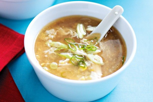 Chicken and sweetcorn soup - This speedy soup is just what the doctor ordered.