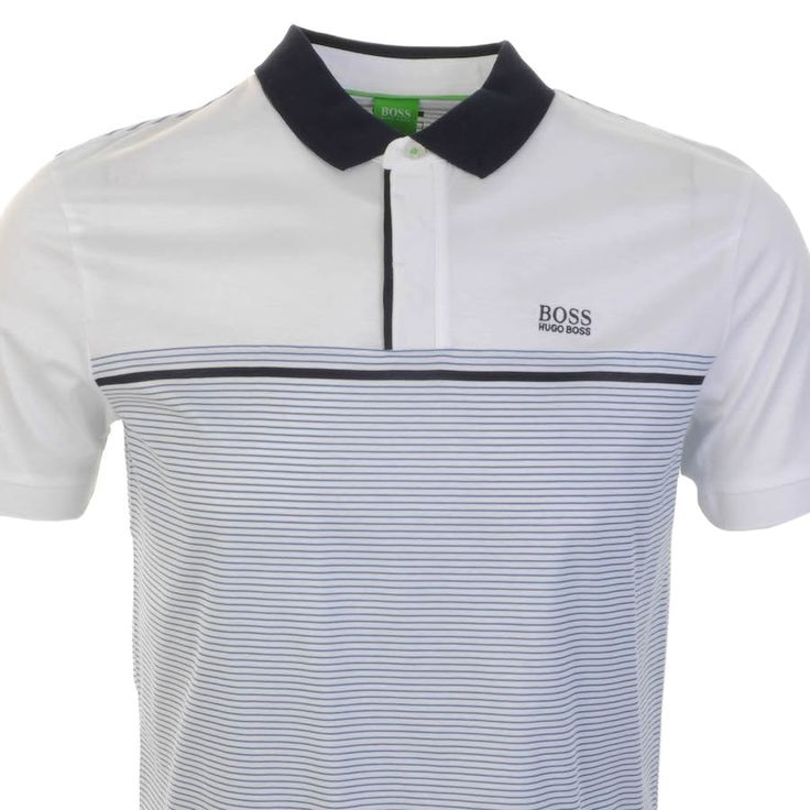HUGO BOSS > HUGO BOSS Green Paddy 6 Polo T Shirt White > Hugo Boss T Shirts Hugo Boss Green Polo Shirts Hugo Boss Designer Clothes @ Mainline Menswear Stockists Of Hugo Boss Green T Shirts Armani Ralph Lauren Paul Smith Vivienne Westwood Lyle And Scott Lacoste G Star Diesel Original Penguin Stone Island F