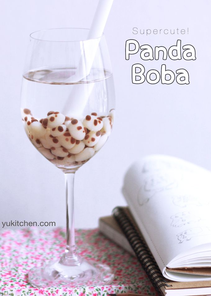 Panda Tapioca Milk Tea With Panda Boba | Yukitchen...... Want! Who's going to make some for me?!