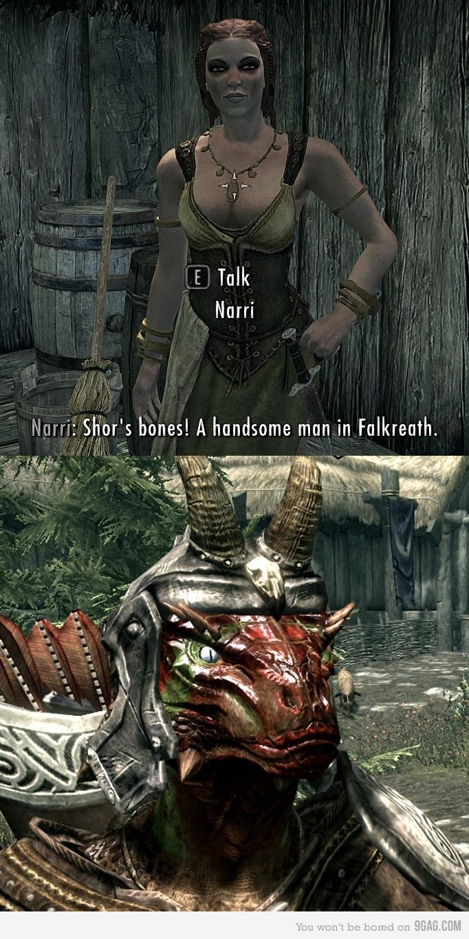 Green tea and velociraptors it s just a flesh wound - Handsome Men Are Scarce In Skyrim
