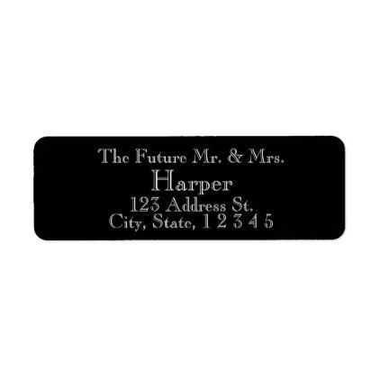 Sophisticated Black Wedding Return Labels Return labels and Weddings
