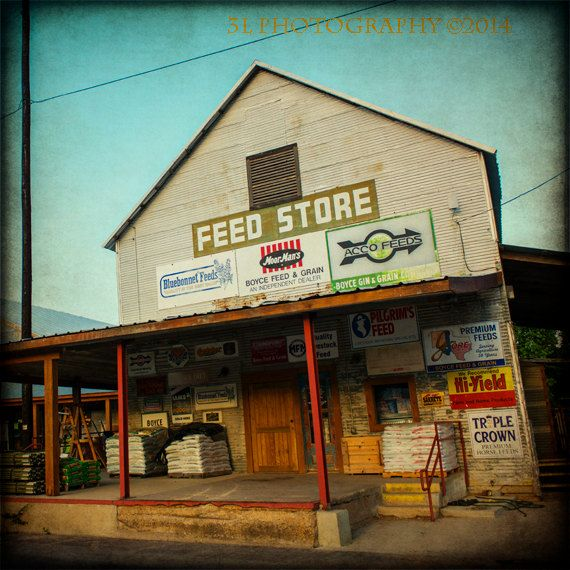 Texas Photography Feed Store Industrial Fine Art by 3LPhotography, $25.00