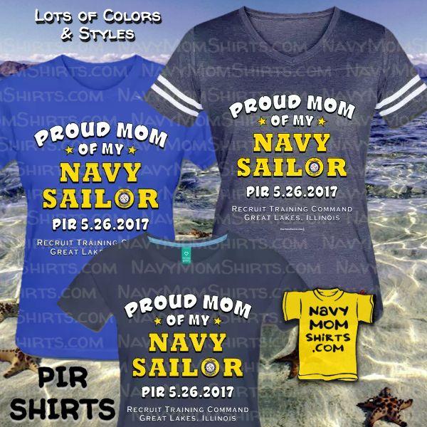 Navy PIR shirts for Bootcamp Graduation May 26th 2017 at NavyMomShirts.com