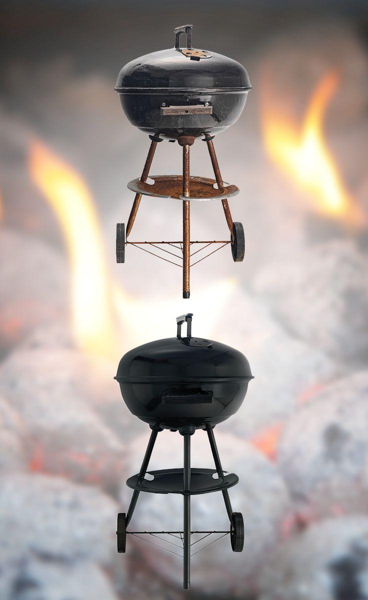 """Tid for grillings!  Har du en sliten grill som egentlig fungerer helt topp, men som ikke ser presentabel ut? Med Quick Bengalack er det enkelt å få en """"ny"""" grill. :)  #diy #quickbengalack #bengalack #grill #grillsesong"""