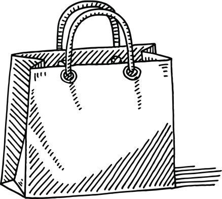 покупки рисунок карандашом фоне