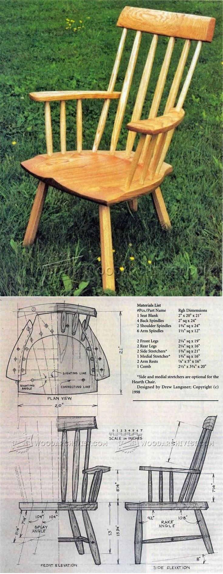 Rustic Windsor Chair Plans - Furniture Plans and Projects | WoodArchivist.com