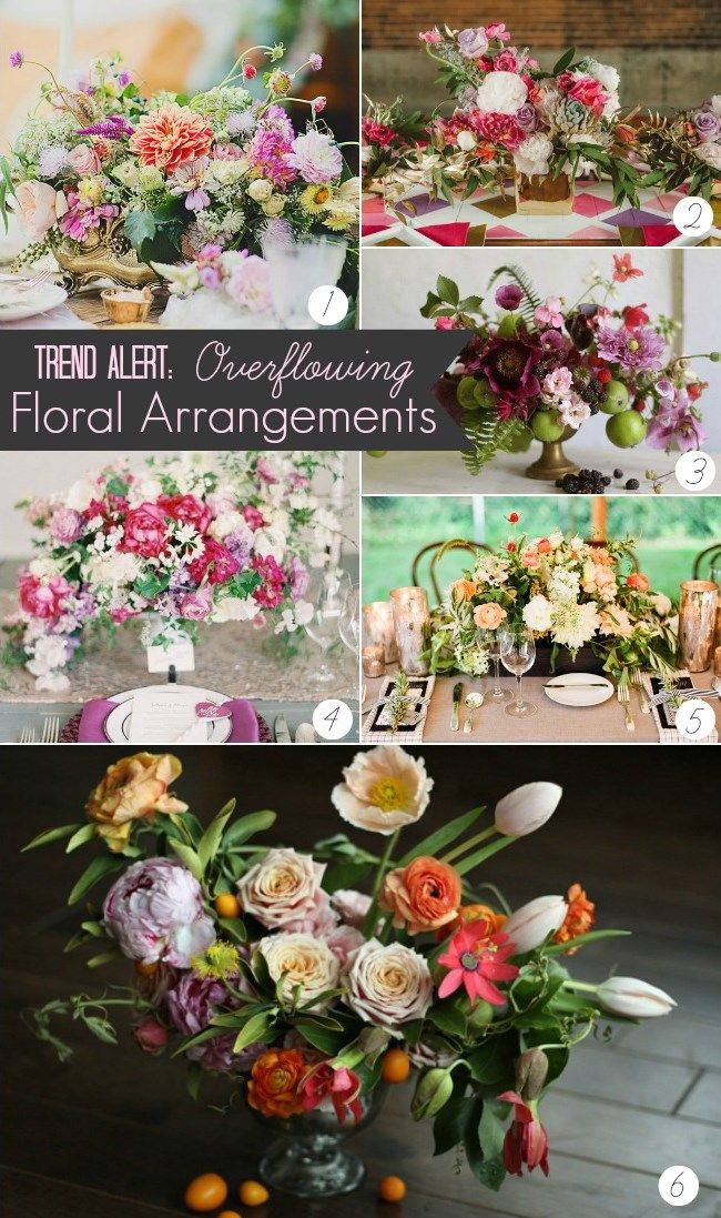 TREND ALERT :: OVERFLOWING FLORAL ARRANGEMENTS: Flowers Bouquets, Over Flowing Flowers, Trends Alert, Flowers Arrangements, Floral Arrangements, Posts Flowers, Overflow Floral, Tablescape, Bottoms Flowers