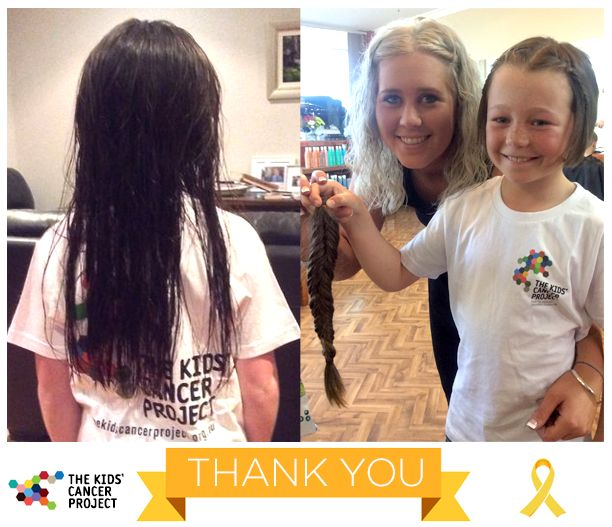 Saskia has decided she wants short hair and what better use for her long plait to be donated to make a wig for someone undergoing treatment for cancer. Please help this amazing 8 year old raise funds for 'The Kids Cancer Project' whilst creating a new look for herself! She really hopes scientists will find a cure for cancer soon!  Thank you gorgeous Saskia - what an inspiring young lady you are!