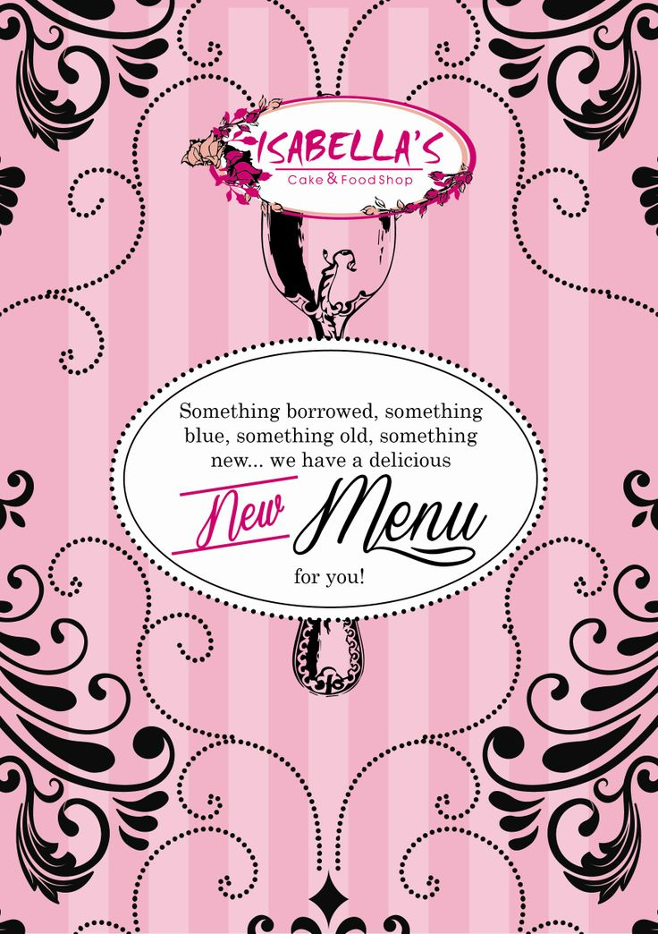 Best news ever!  We've got a little surprise for all our fabulous Isabella's friends!  Our new menu is now available in all our Pretoria shops and in our gorgeous Rustenburg shop!  Durbanville friends, we will surprise you with our new menu on the 18th of February!  We hope you love it as much as we do!