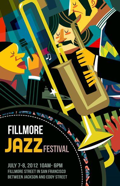 Poster Design - Jazz Festival by PingHua Chou, via Behance