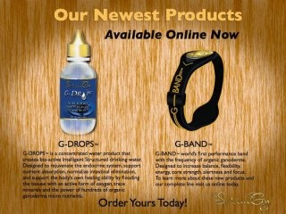 SereniGy Latest Products:-  G-Drops and G-Band