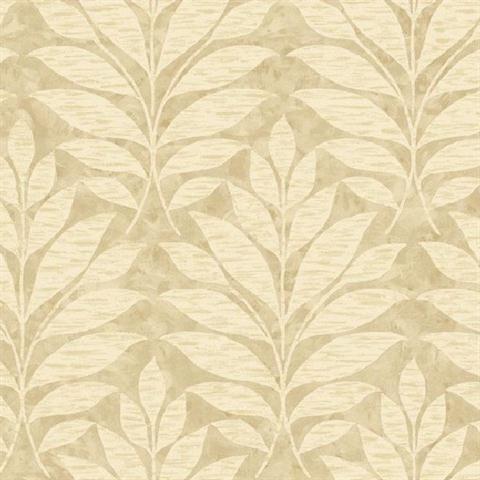Green Textural Leaf Wallpaper