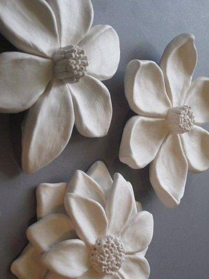 Flower Garden Wall Hanging, Ceramic Wildflower, Blackberry And Camelia Art,  Floral Art,