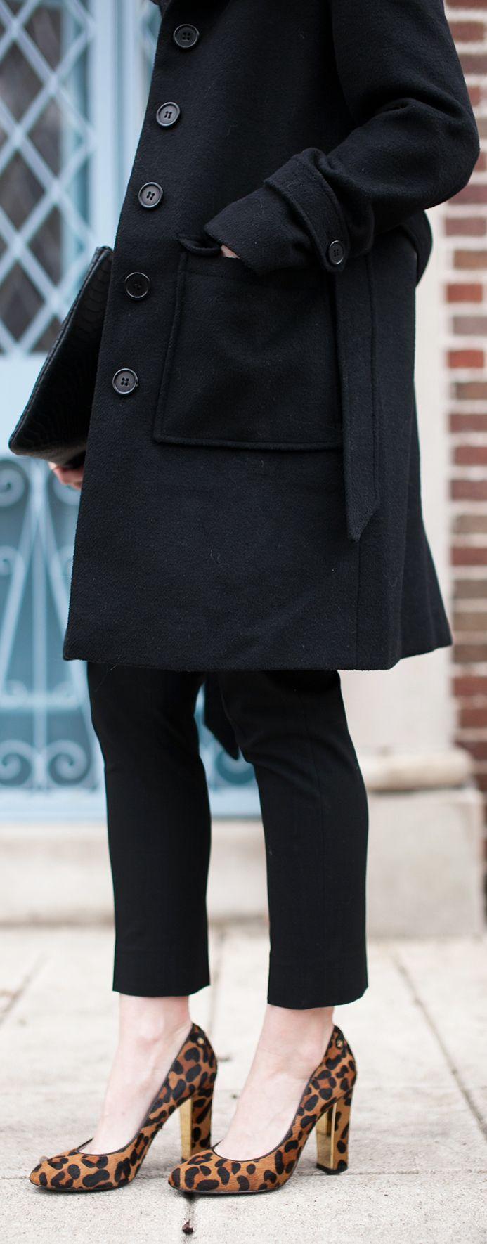 Styling Black & Leopard #NarrativeStyleJournal Nordstrom Leopard Print Heels Gap Jeans, LOFT Coat Narrative Personal Styling | Lana Jackson | DC Stylist | Denim, Denim and Heels, Spring Outfits Winter Outfits Women's Fashion Classy Women's Style Classy Work Outfits Fashion Blog #SpringOutfits #Denim #SpringOutfits #WinterOutfits#WomensFashion #WomensStyle #Leopard #LeopardPrint #springstyle #NarrativeStyling #WorkOutfits